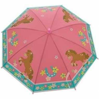 Dierenprint parapluutje 70 cm paard voor meisjes prijs