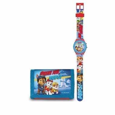 Vergelijk digitaal horloge met portemonnee paw patrol prijs