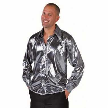 Disco zilveren overhemd voor heren prijs