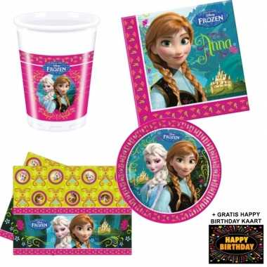 Disney frozen tafelversiering pakket 8 personen voor kinderfeestje pr