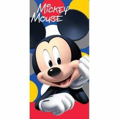 Disney mickey mouse dots badhanddoek 70 x 140 cm prijs