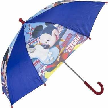 Disney mickey mouse kinderparaplu blauw 45 cm voor jongens prijs