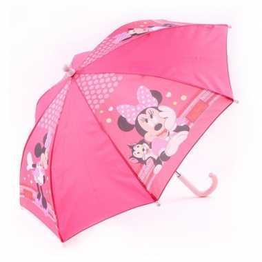 Disney minnie mouse kinderparaplu roze 45 cm voor meisjes prijs