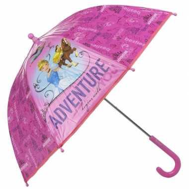 Disneys assepoester belle en jasmine kleine paraplu roze 45 cm voor m