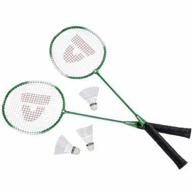 Donnay badmintonset groen 6-delig 67 cm prijs