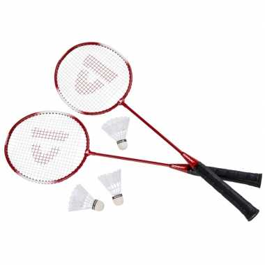 Donnay badmintonset rood 6-delig 67 cm prijs