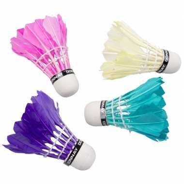 Donnay veren badminton reserve shuttles 5 stuks gekleurd prijs