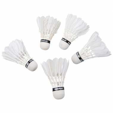 Donnay veren badminton reserve shuttles 5 stuks prijs