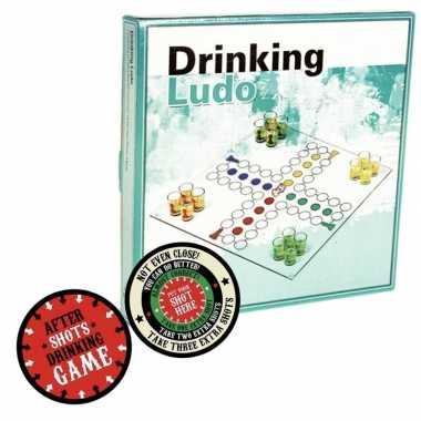 Drank bordspel met pionnen feest artikelen met plaats je shotglas vil