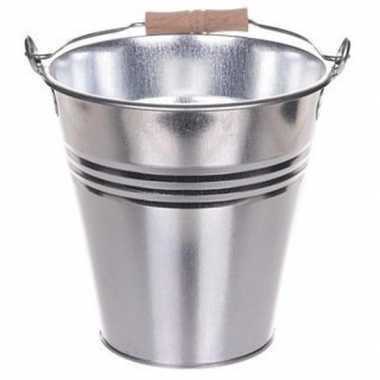 Drankemmer zilver metaal 3 liter prijs