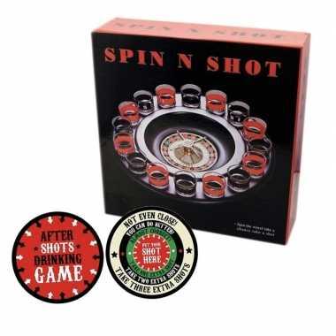 Drankspellen shot roulette met plaats je shotglas viltjes prijs
