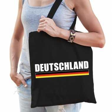 Duitsland supporter schoudertas deutschland zwart katoen prijs