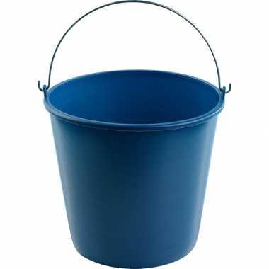 Emmer blauw 12 liter 28 x 25 cm schoonmaakartikelen prijs