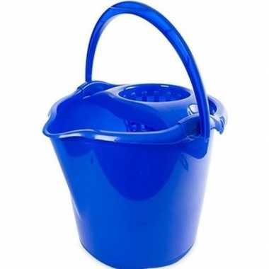 Emmertje blauw 13,5 liter 32 x 30 cm schoonmaakartikelen prijs