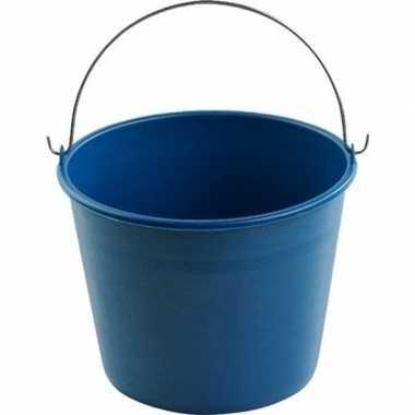 Emmertje blauw 6 liter 23 x 17,5 cm schoonmaakartikelen prijs