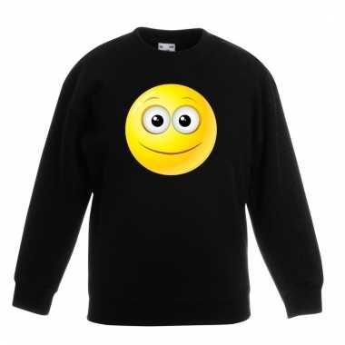 Emoticon vrolijk sweater zwart kinderen prijs