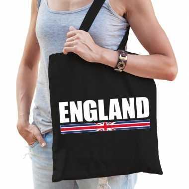 Engeland supporter schoudertas england zwart katoen prijs