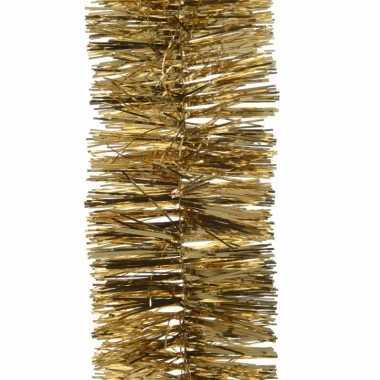 Feest lametta guirlande goud 7 x 270 cm versiering/decoratie prijs