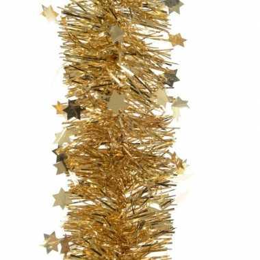 Feest lametta guirlande goud sterren/glinsterend 10 x 270 cm feestver