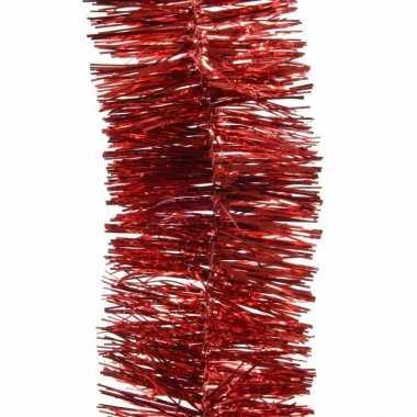 Feest lametta guirlande rood 7 x 270 cm versiering/decoratie prijs