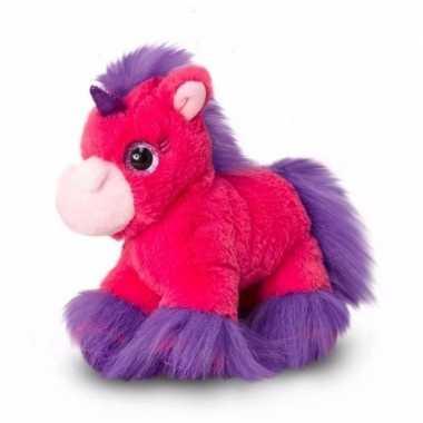 Fel roze eenhoorns knuffel 18 cm prijs