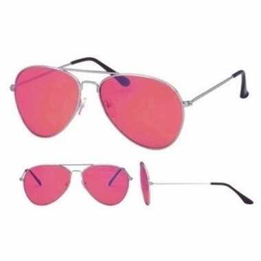 Festival/feest aviator zonnebril zilver voor volwassenen prijs