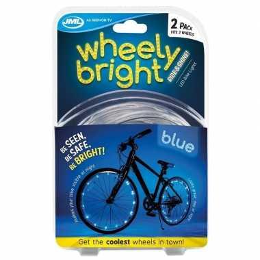 Fietswiel spaakverlichting led lichtsnoer blauw 2 stuks prijs
