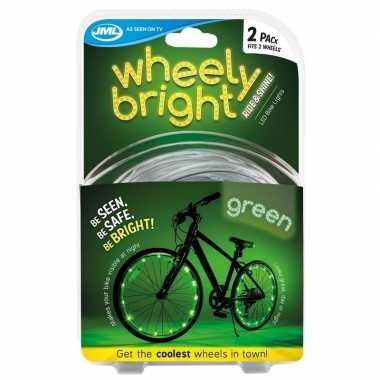 Fietswiel spaakverlichting led lichtsnoer groen 2 stuks prijs