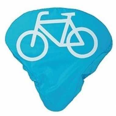 Fietszadeldek / zadelhoes blauw met fiets opdruk prijs