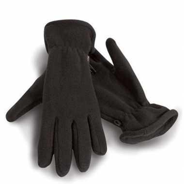 Fleece handschoenen zwart voor volwassenen prijs