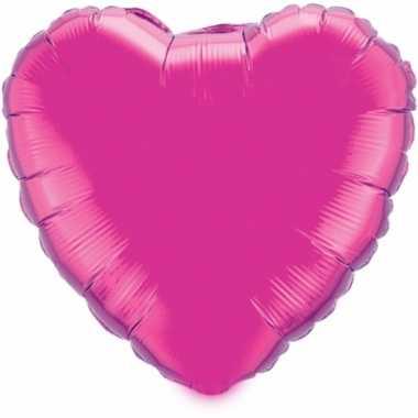Folie ballon fuchsia hart 52 cm prijs