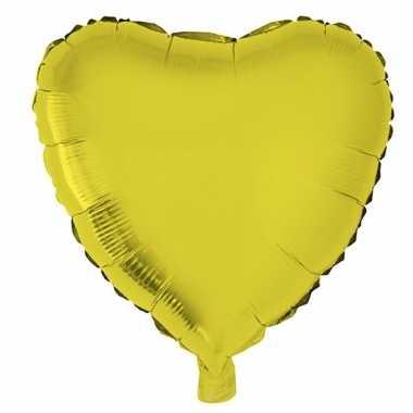 Folie ballon gouden hart 52 cm prijs