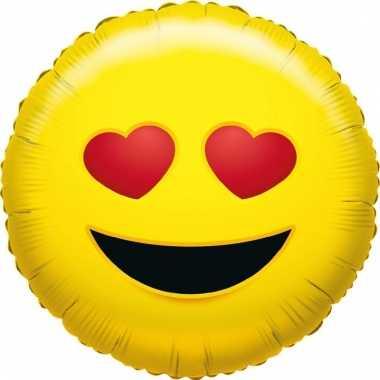 Folie ballon liefdes smiley 35 cm prijs