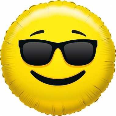 Folie ballon smiley cool 35 cm prijs