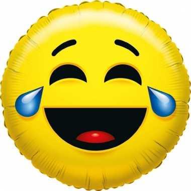 Folie ballon smiley lachend 35 cm prijs