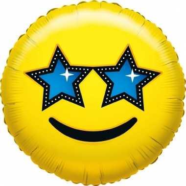 Folie ballon sterren smiley 35 cm prijs