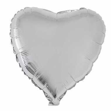 Folie ballon zilveren hart 52 cm prijs