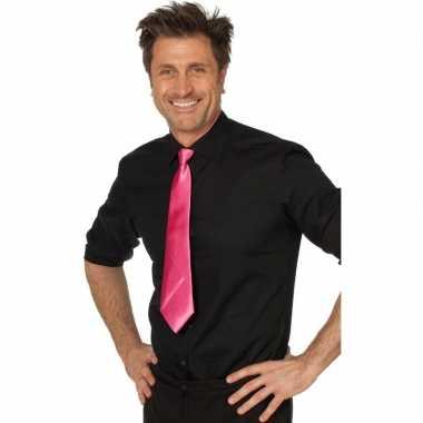 Fuchsia roze vrijgezellenfeest verkleed stropdassen 41 cm voor dames/