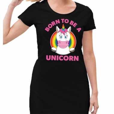Gaypride born to be a unicorn jurkje zwart dames prijs