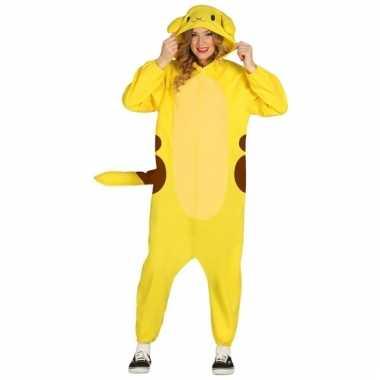 Vergelijk geel anime kostuum voor volwassenen prijs