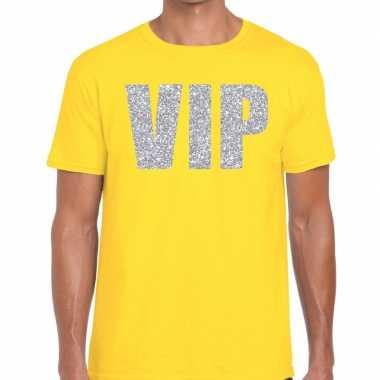 Geel vip zilver fun t-shirt voor heren prijs