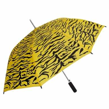 Geel/zwarte tijger opdruk paraplu 80 cm prijs
