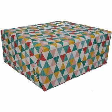Gekleurd cadeaupapier 70 x 200 cm type 6 prijs