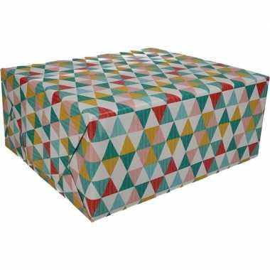 Gekleurd cadeaupapier met grafische print 70 x 200 cm prijs