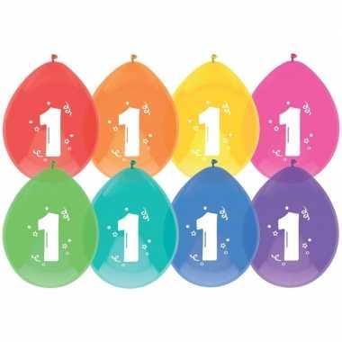Gekleurde ballonnen 1 jaar 24 stuks prijs