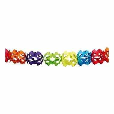 Gekleurde feestslinger in kruisvorm 6 m prijs