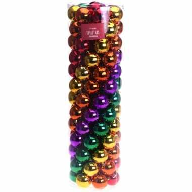 Gekleurde kerstversiering kerstballen set 100 delig prijs