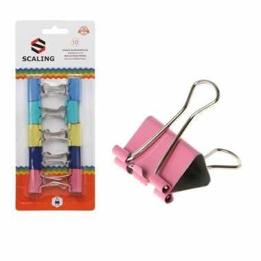 Gekleurde papierhouders 10 stuks 25 mm prijs