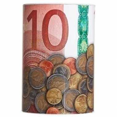 Geld 10 euro biljet spaarpotje 10 x 15 cm prijs