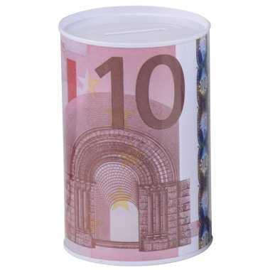 Geld 10 euro biljet spaarpotje 8 x 11 cm prijs